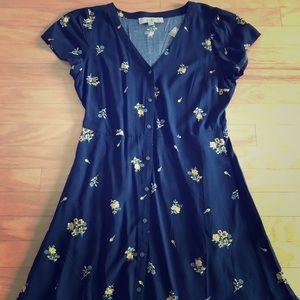 Loft Flower Ruffle Dress